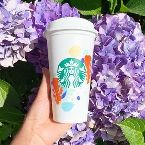 Starbucks Other - 2 Starbucks Summer coral sea reusable hot cup 16oz